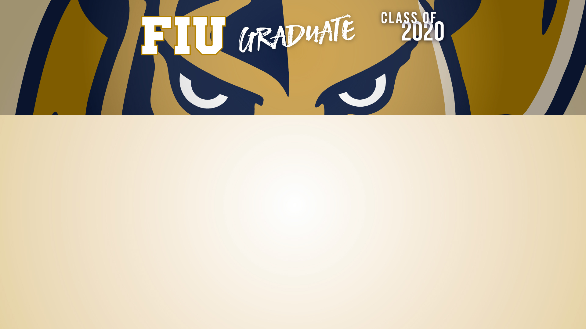 FIU Grad 2020 Gold Zoom Background