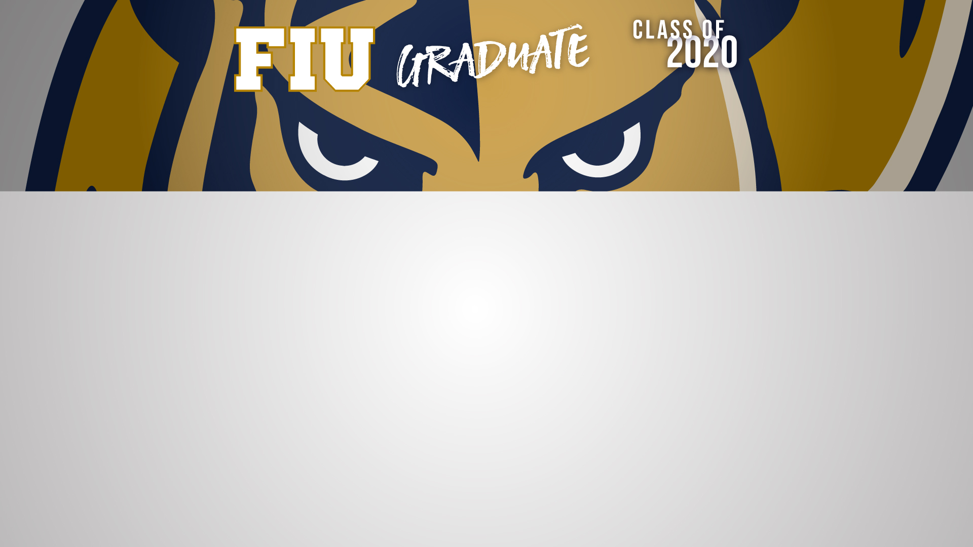 Grey FIU Grad 2020 Zoom Background